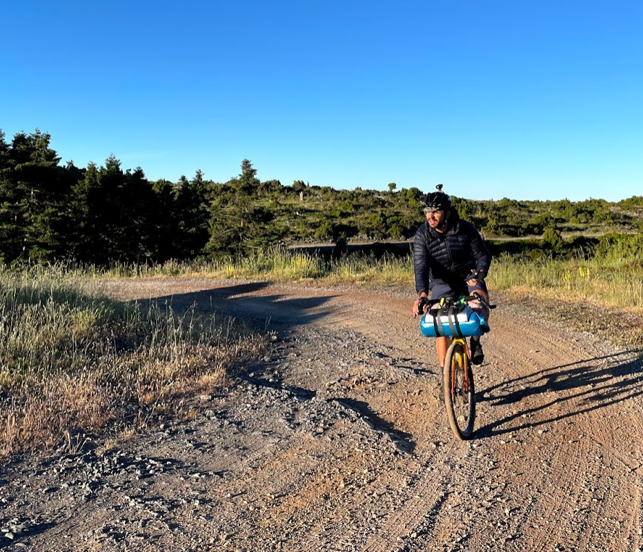 cyclist on a rural road